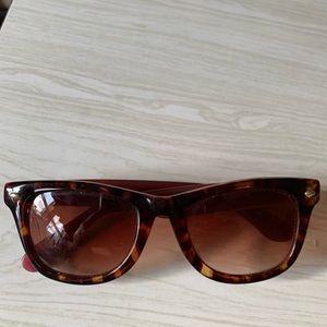 Betsy Johnson sunglasses brown purple pink logo